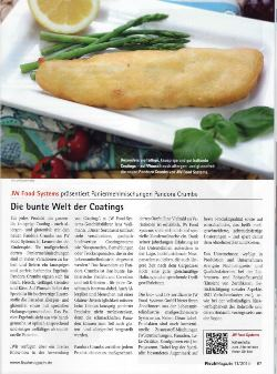 JW Food Systems - Die bunte Welt der Coatings Fischmagazin | 11/2014